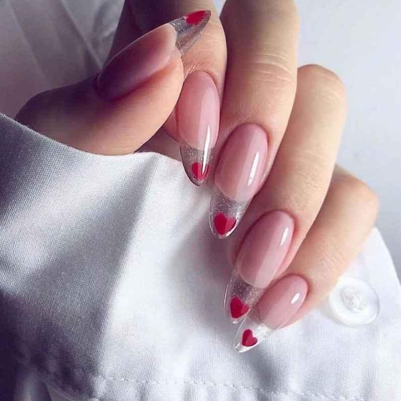Необычный френч на ногтях фото_65