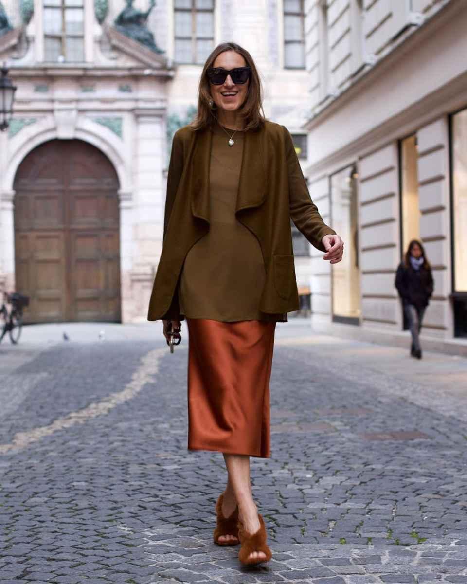 Шелковая юбка 2020 фото_35