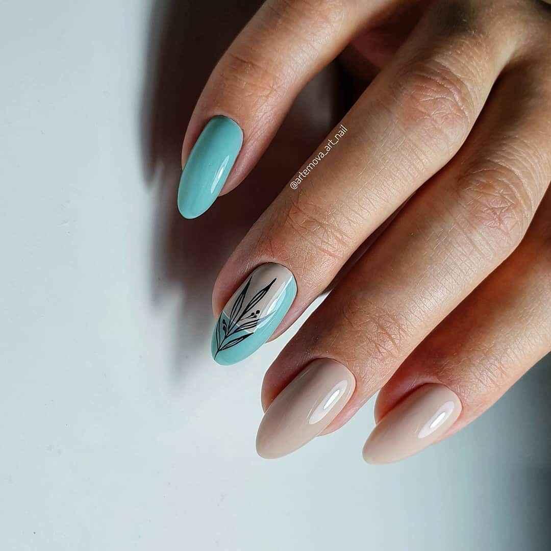 Необычный френч на ногтях фото_78