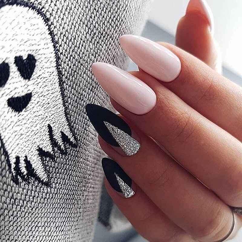 Необычный френч на ногтях фото_77