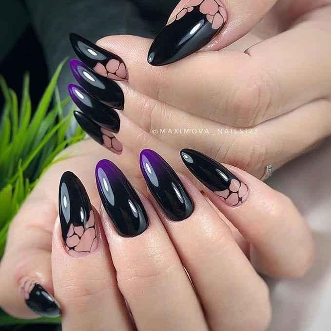 Фиолетовый френч-омбре фото_5