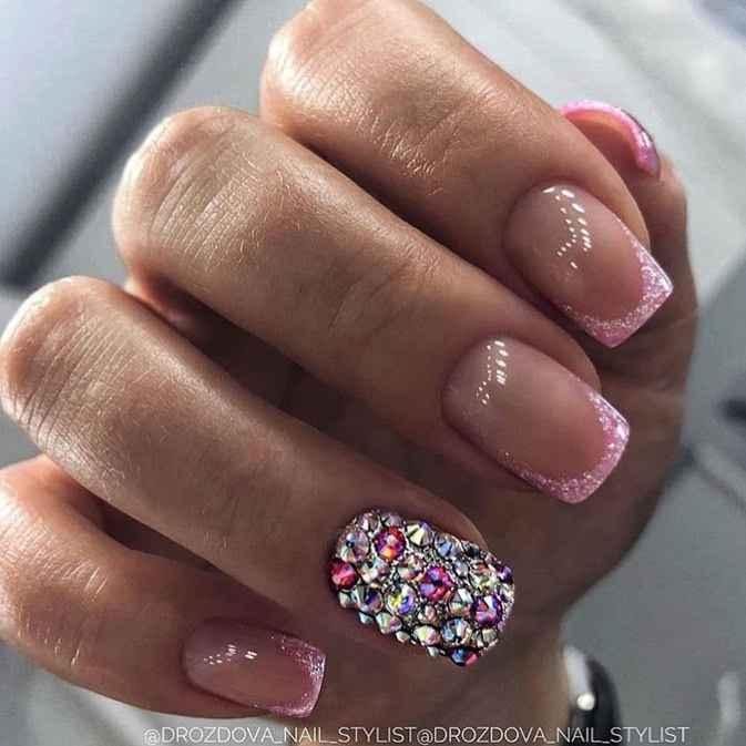 Нежно-розовый френч фото_55