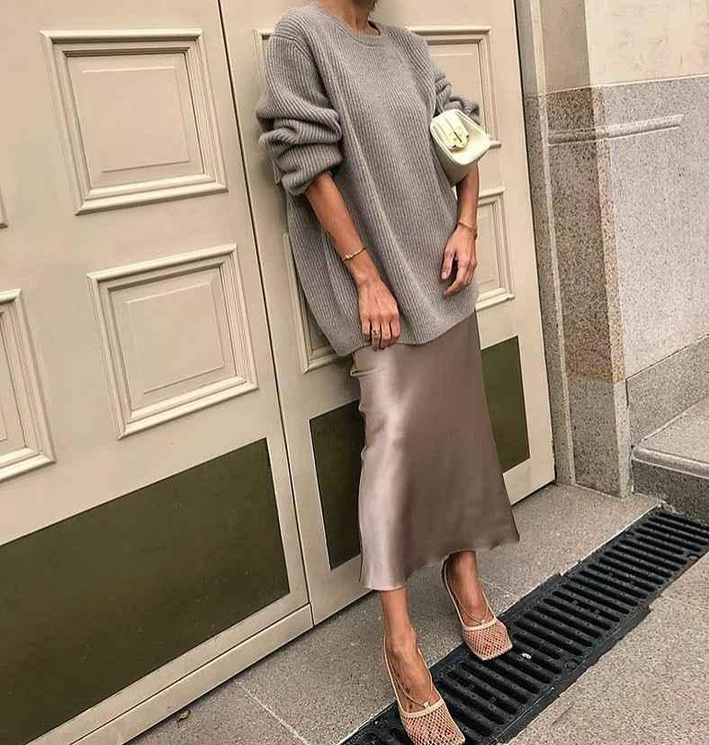 Шелковая юбка 2020 фото_38