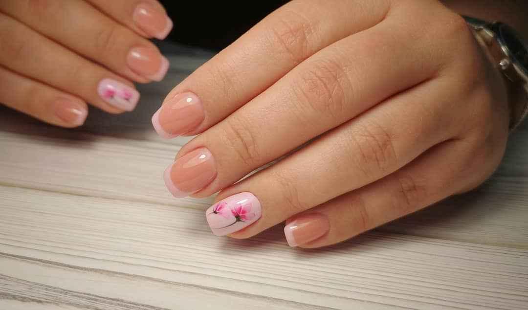 Нежно-розовый френч фото_32