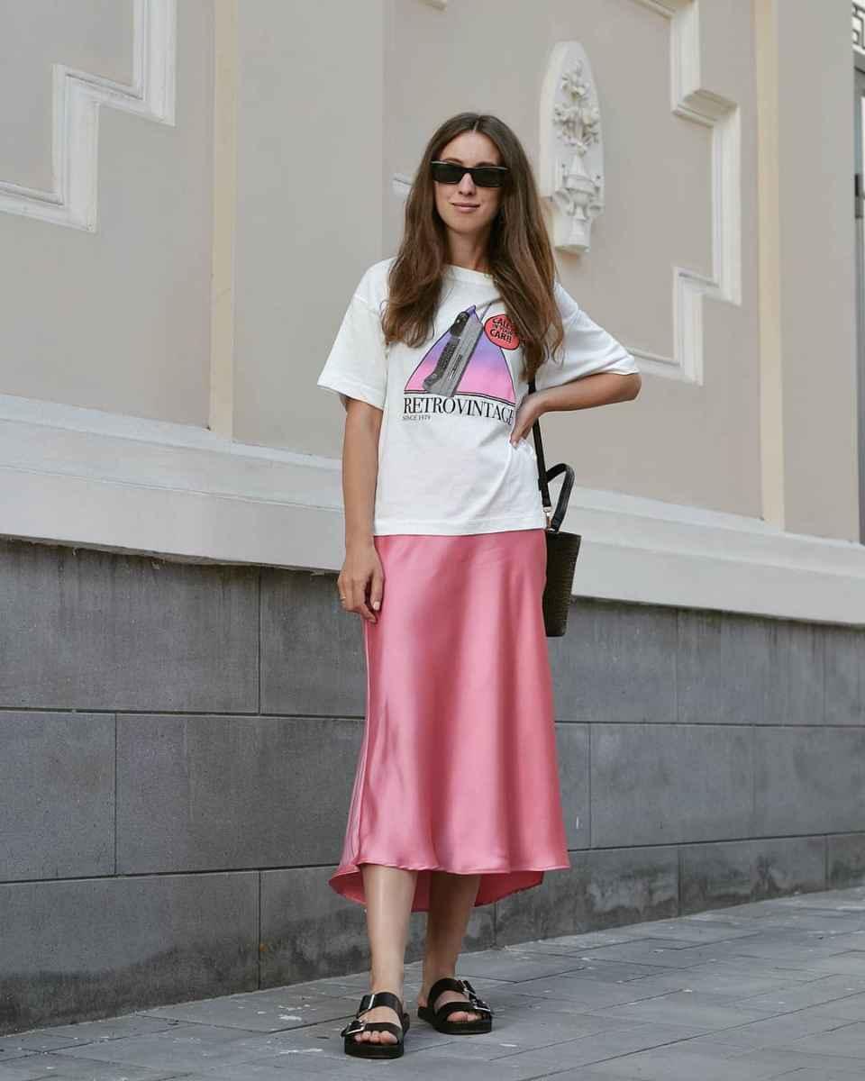 Шелковая юбка 2020 фото_26