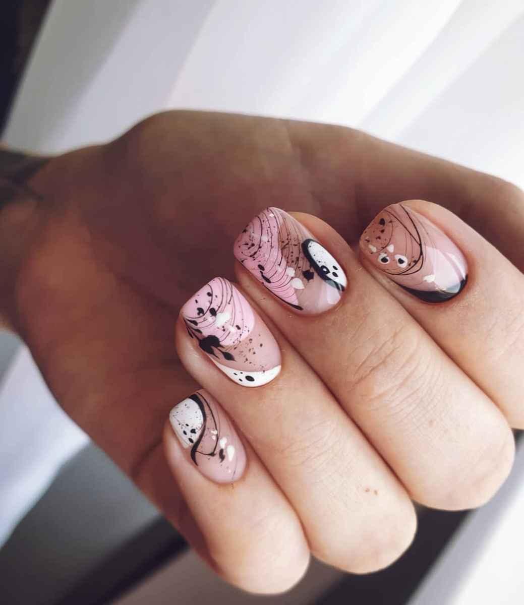 Нежно-розовый френч фото_23