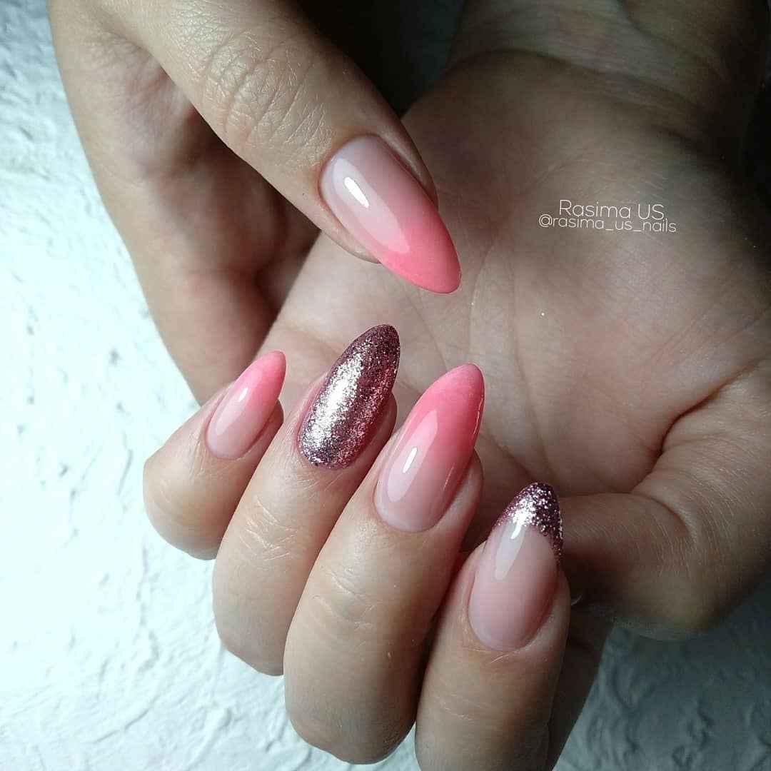 Нежно-розовый френч фото_18