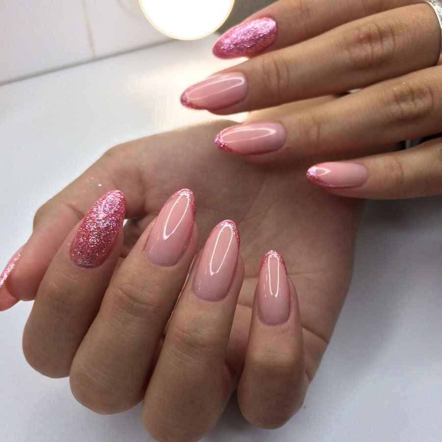 Нежно-розовый френч фото_59
