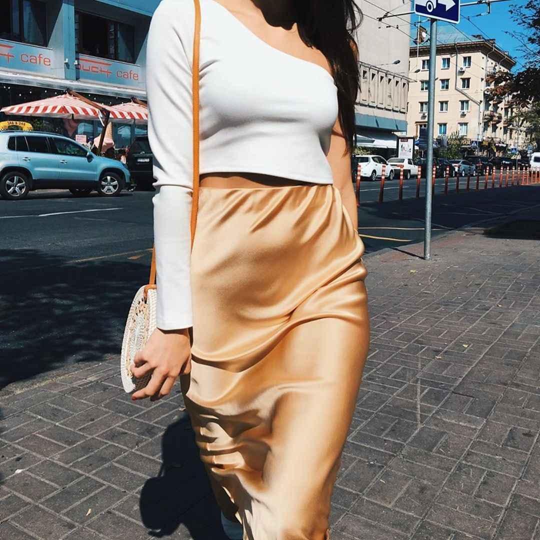 Шелковая юбка 2020 фото_30