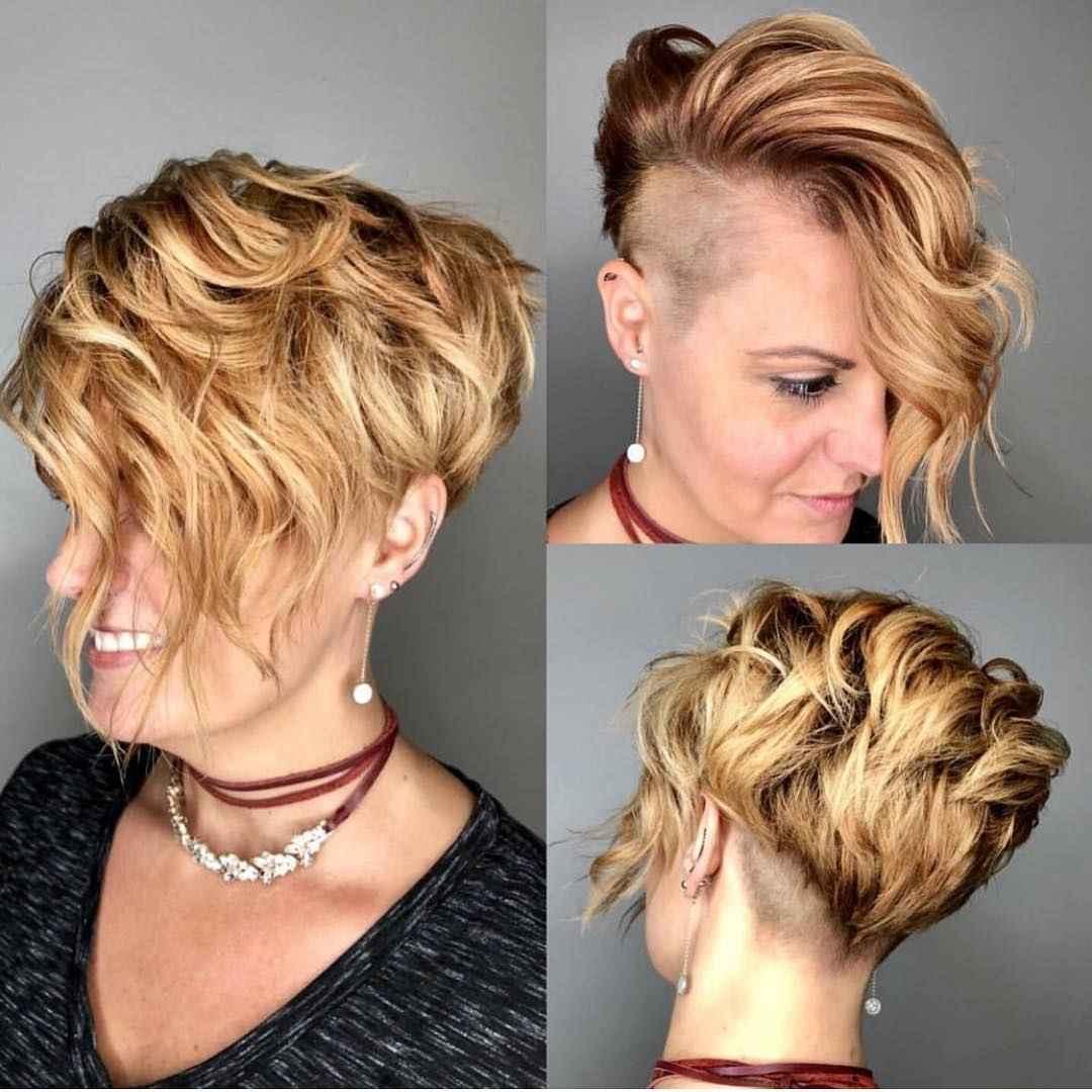 Стрижка пикси на кудрявые и волнистые волосы фото_66
