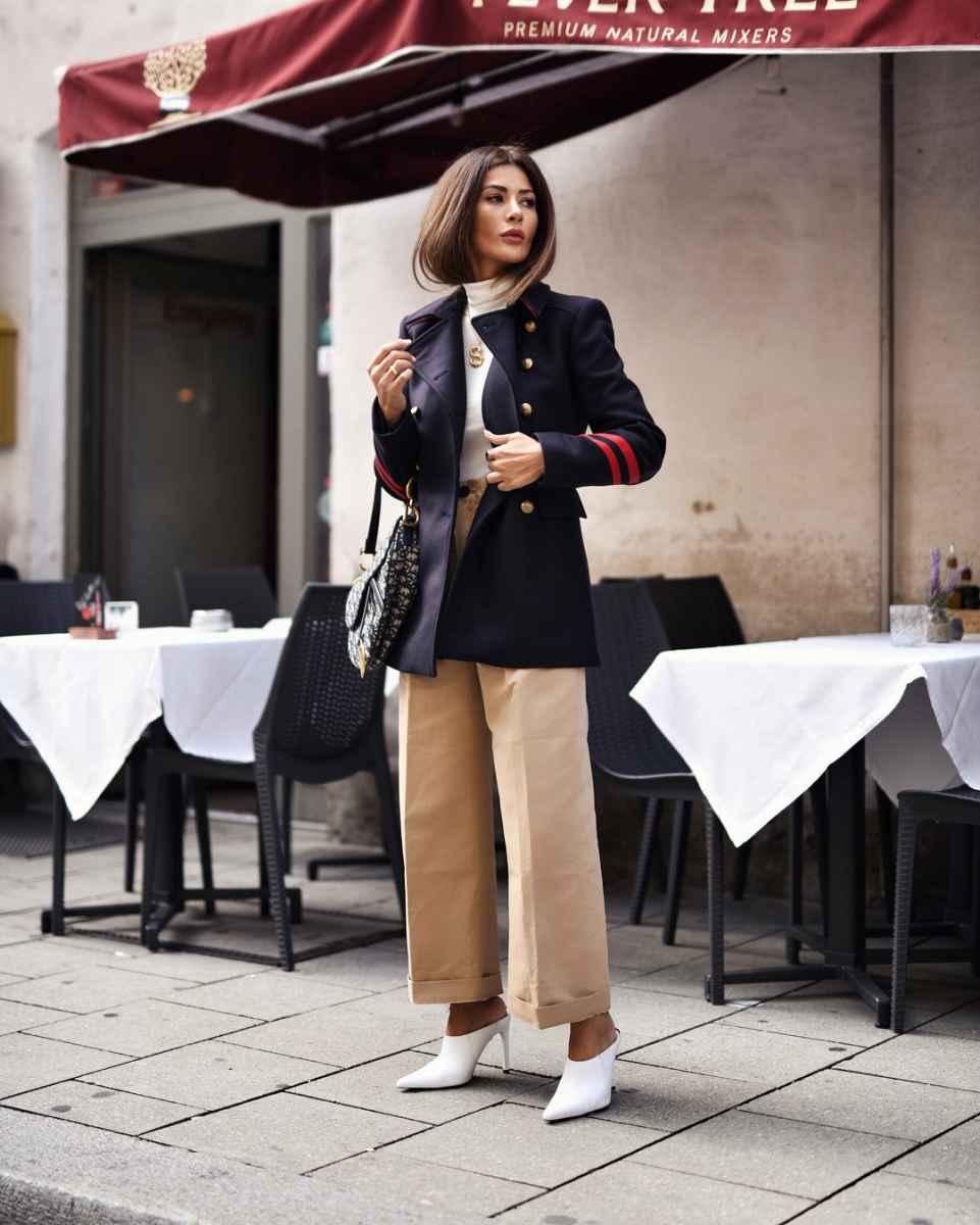 С чем носить пальто-пиджак фото_9