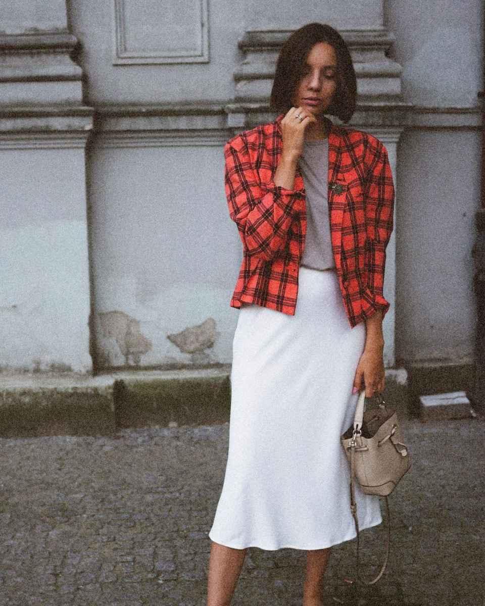 Шелковая юбка 2020 фото_1