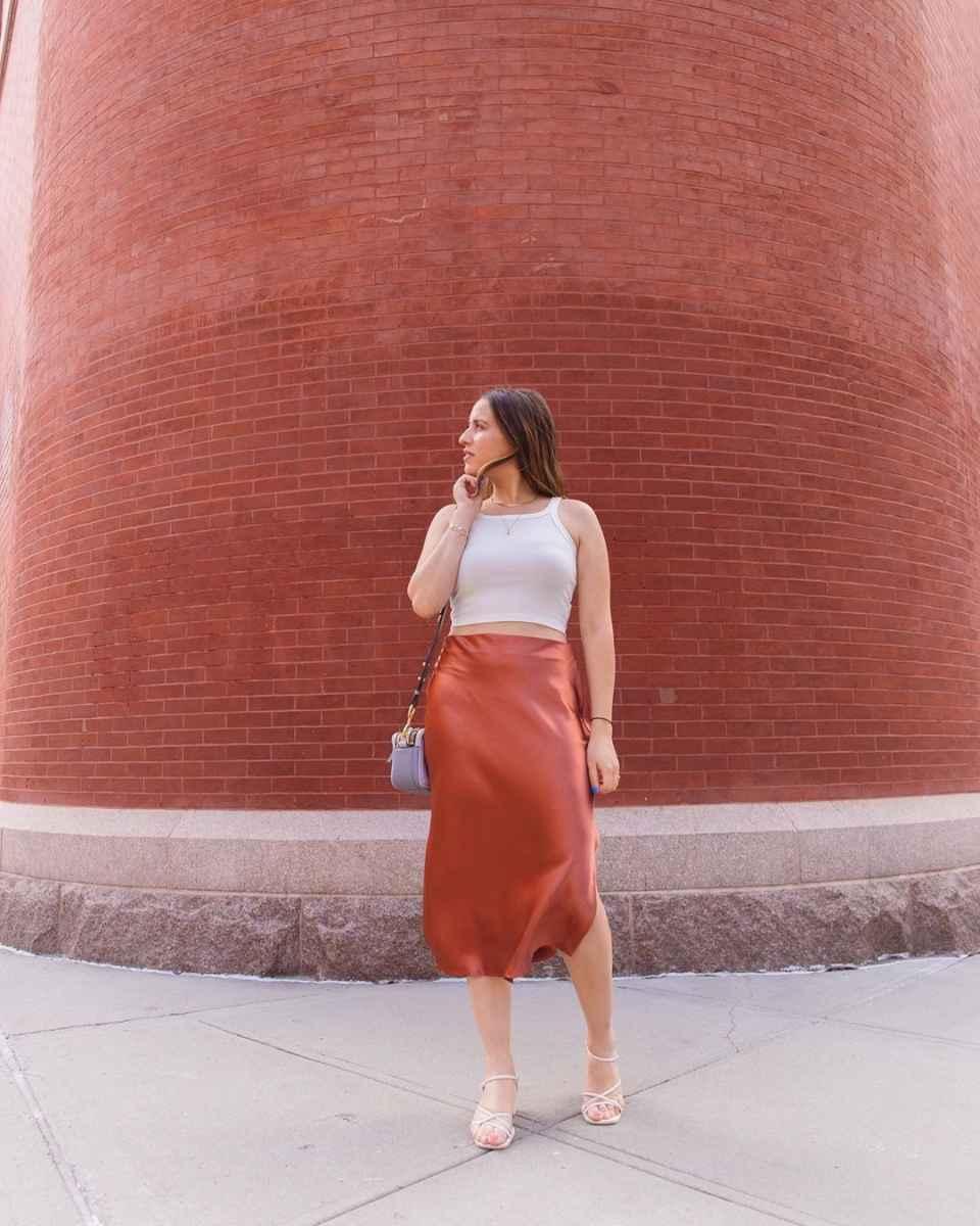 Шелковая юбка 2020 фото_9