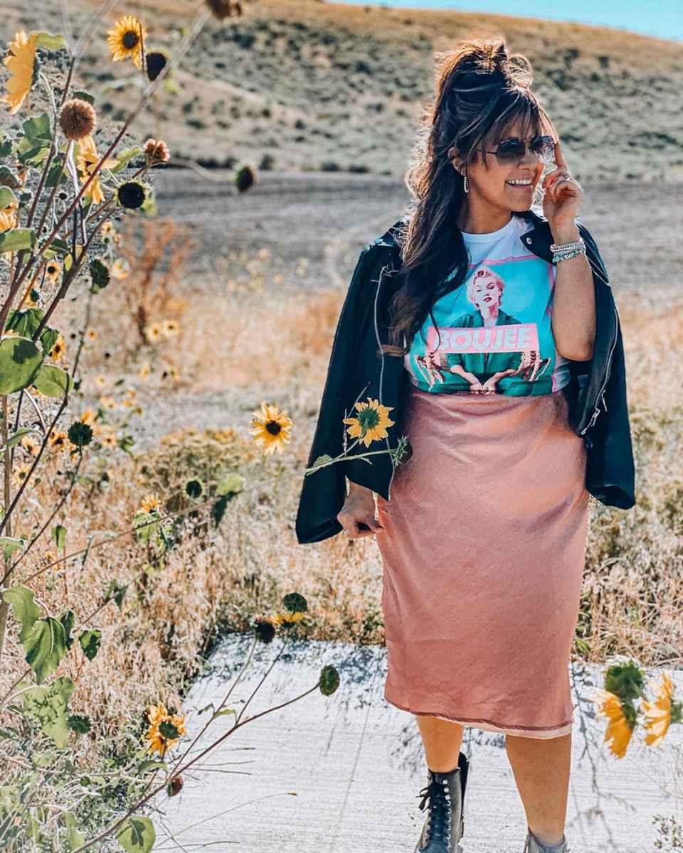 Шелковая юбка 2020 фото_18