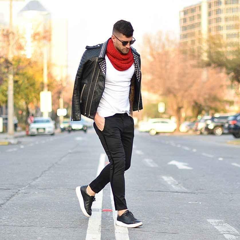 С чем носить кожаную куртку мужчине фото_18