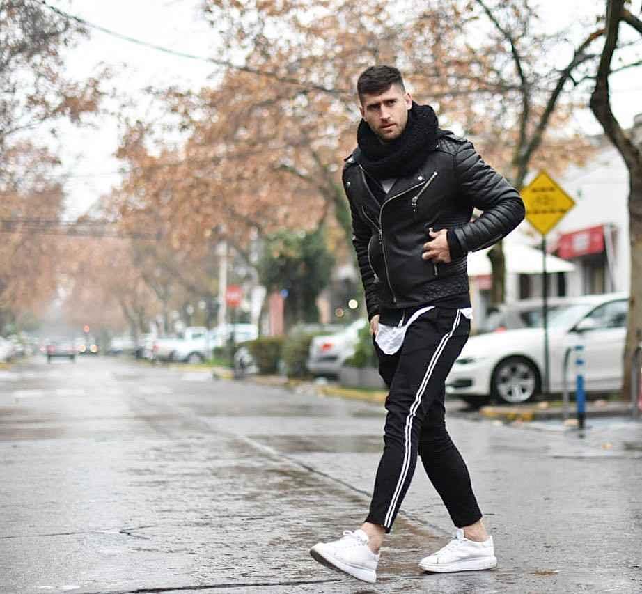 С чем носить кожаную куртку мужчине фото_19