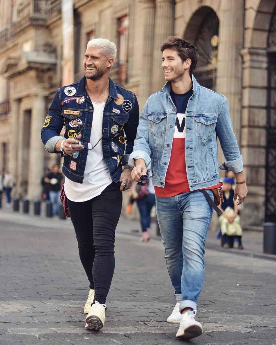 С чем носить джинсовую куртку мужчинам фото_20