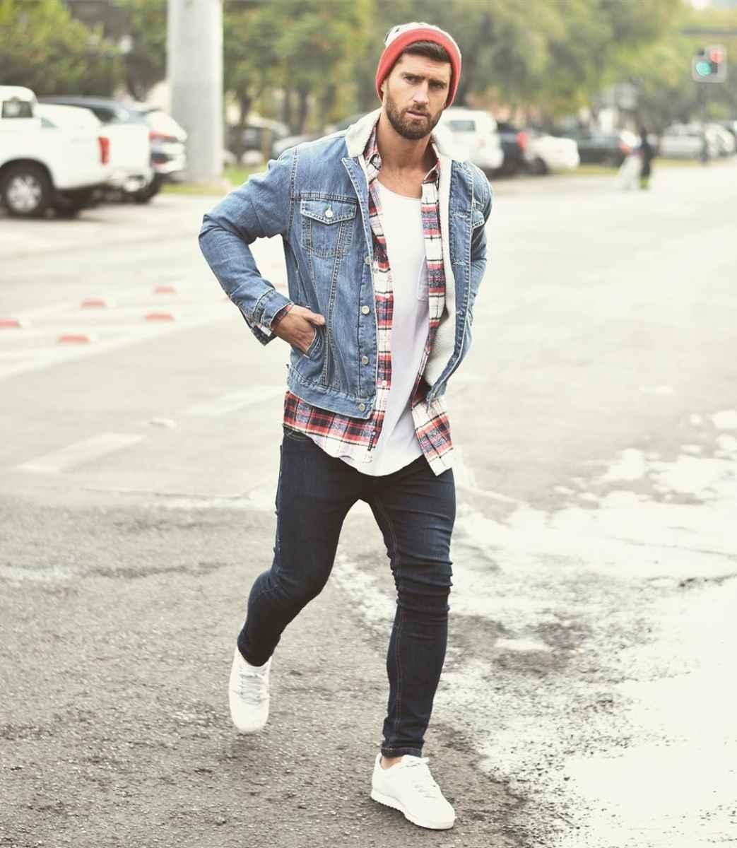 С чем носить джинсовую куртку мужчинам фото_17