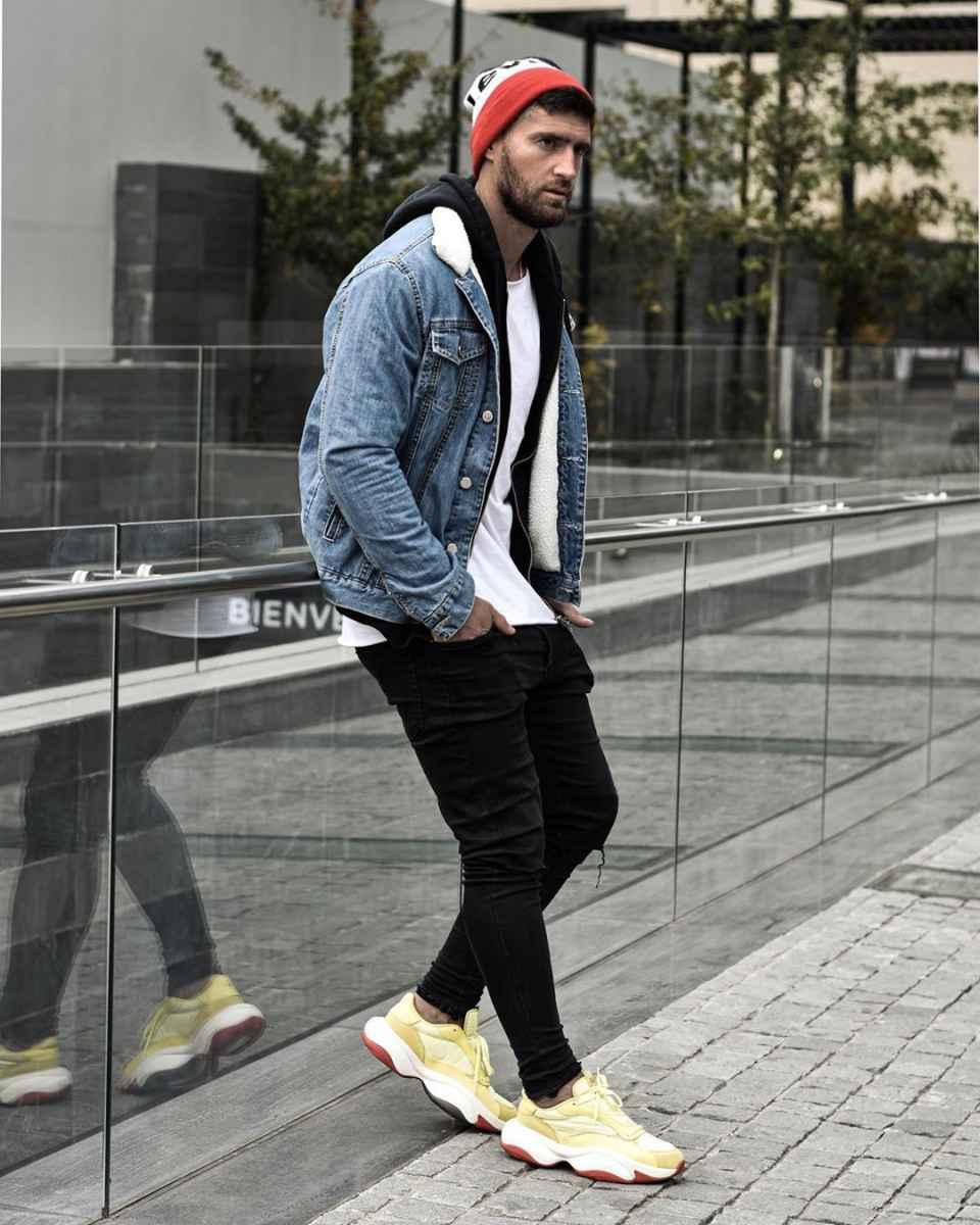 С чем носить джинсовую куртку мужчинам фото_16