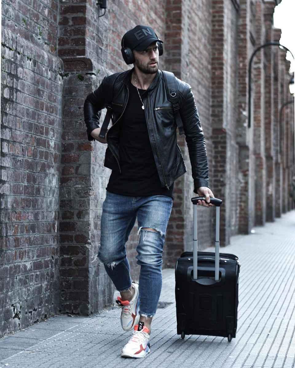 С чем носить кожаную куртку мужчине фото_24