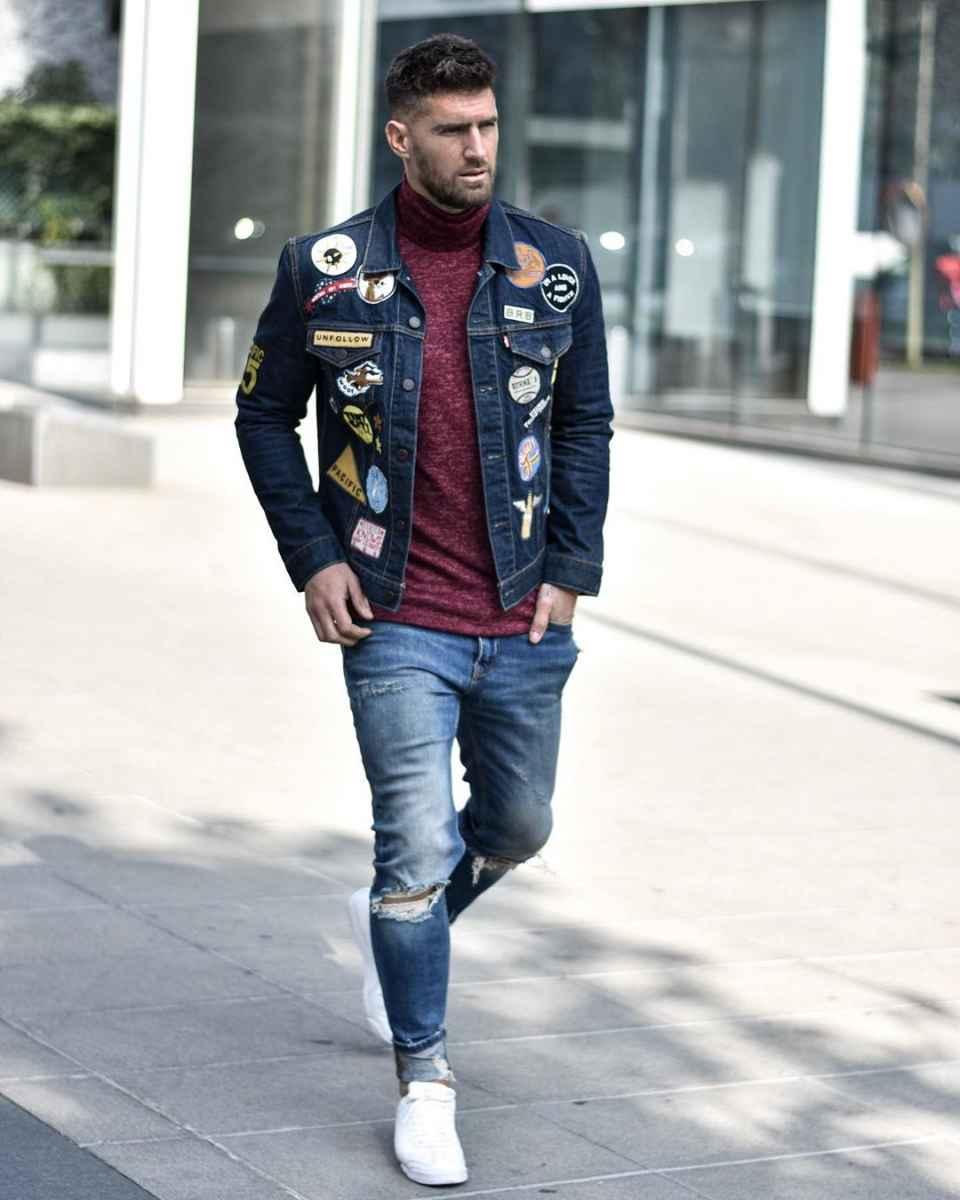 С чем носить джинсовую куртку мужчинам фото_15