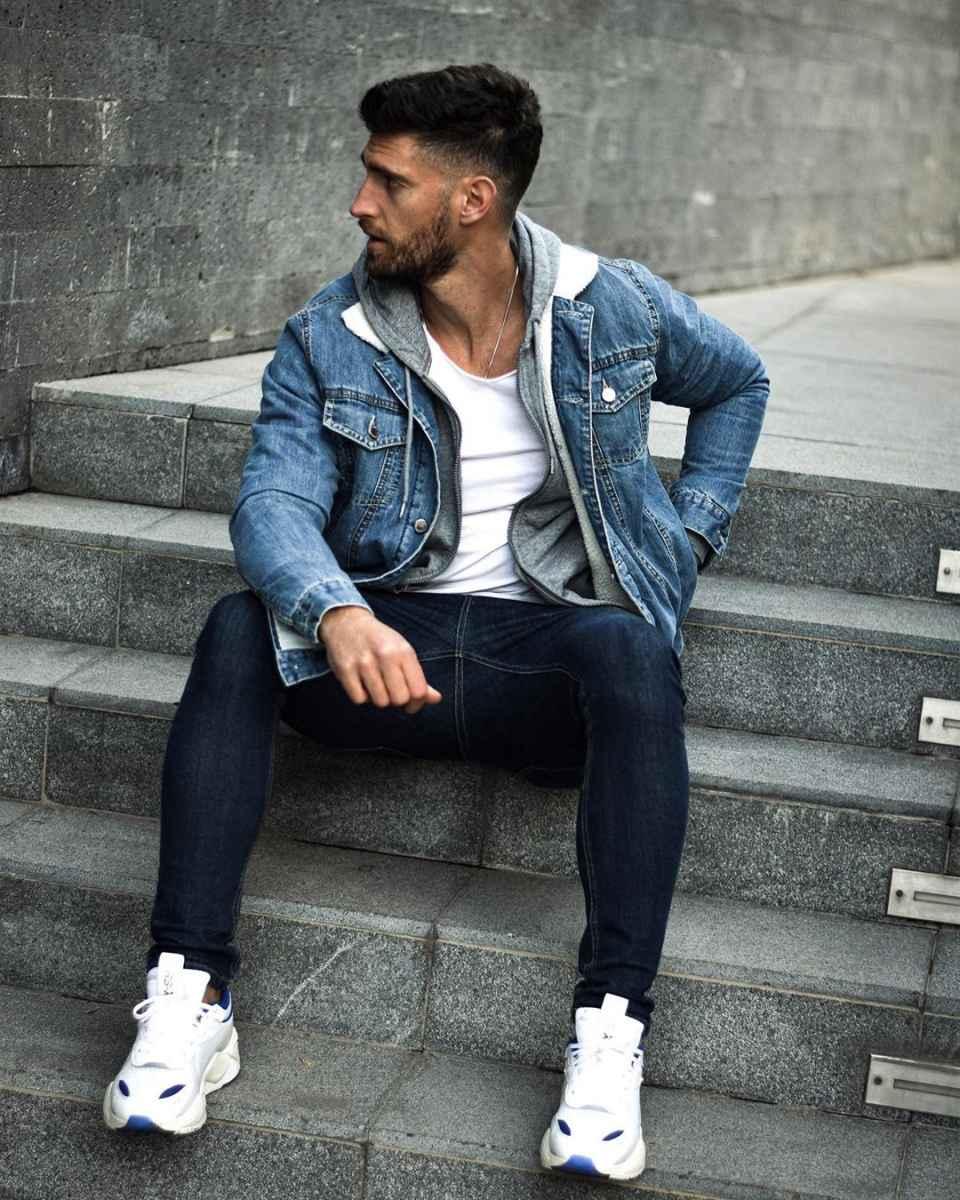 С чем носить джинсовую куртку мужчинам фото_14