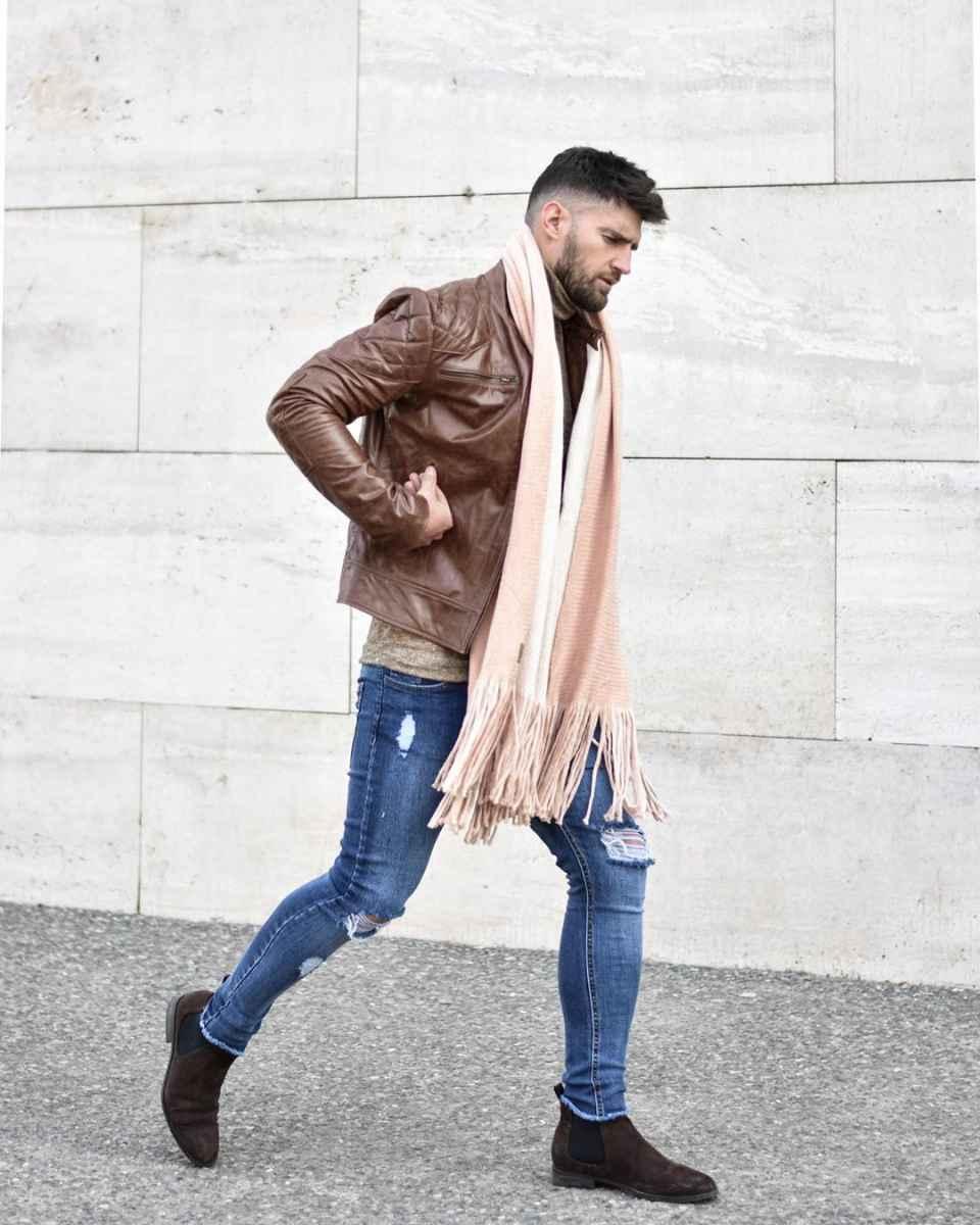 С чем носить кожаную куртку мужчине фото_27