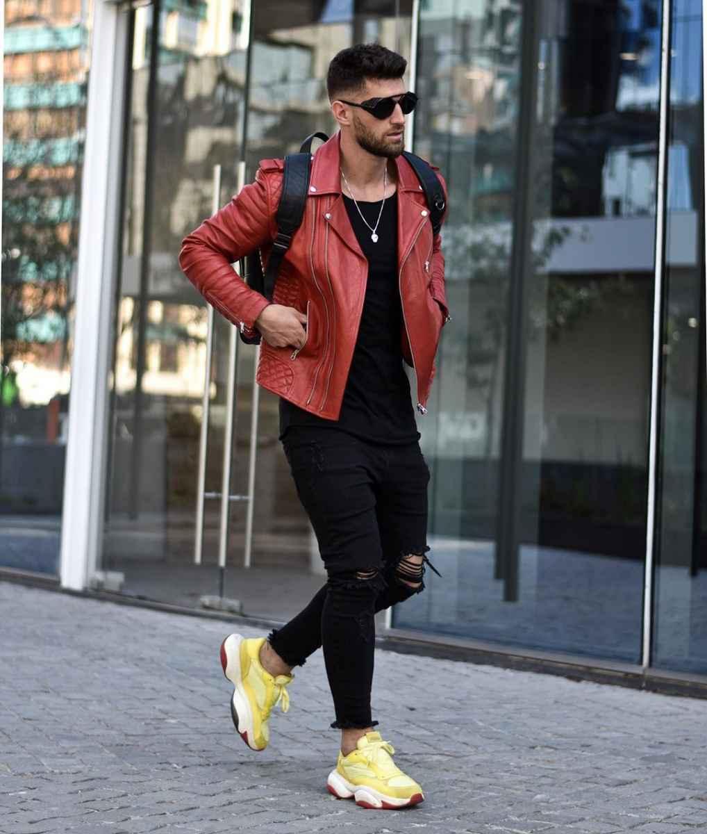 С чем носить кожаную куртку мужчине фото_28