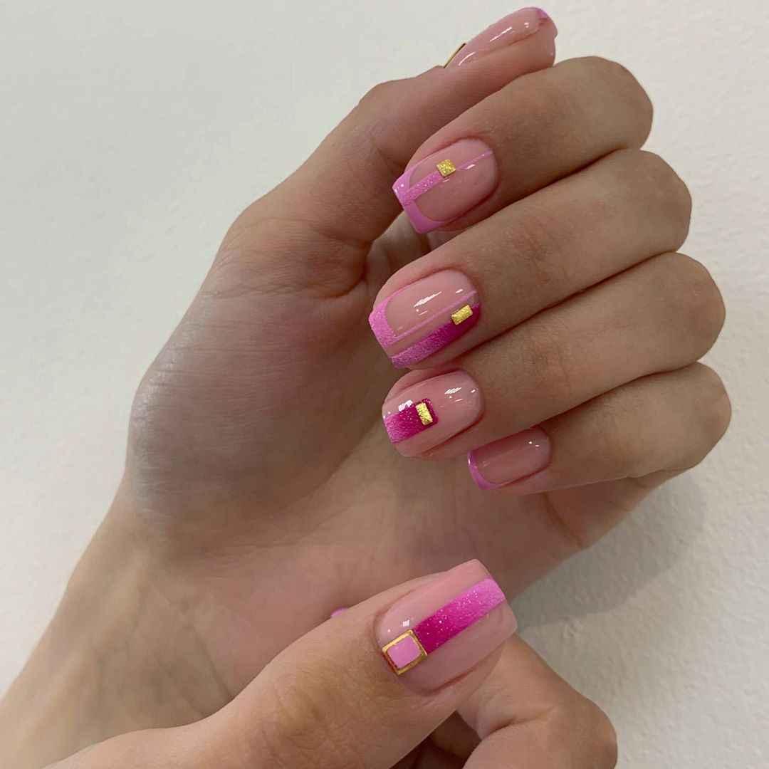 Нежно-розовый френч фото_63