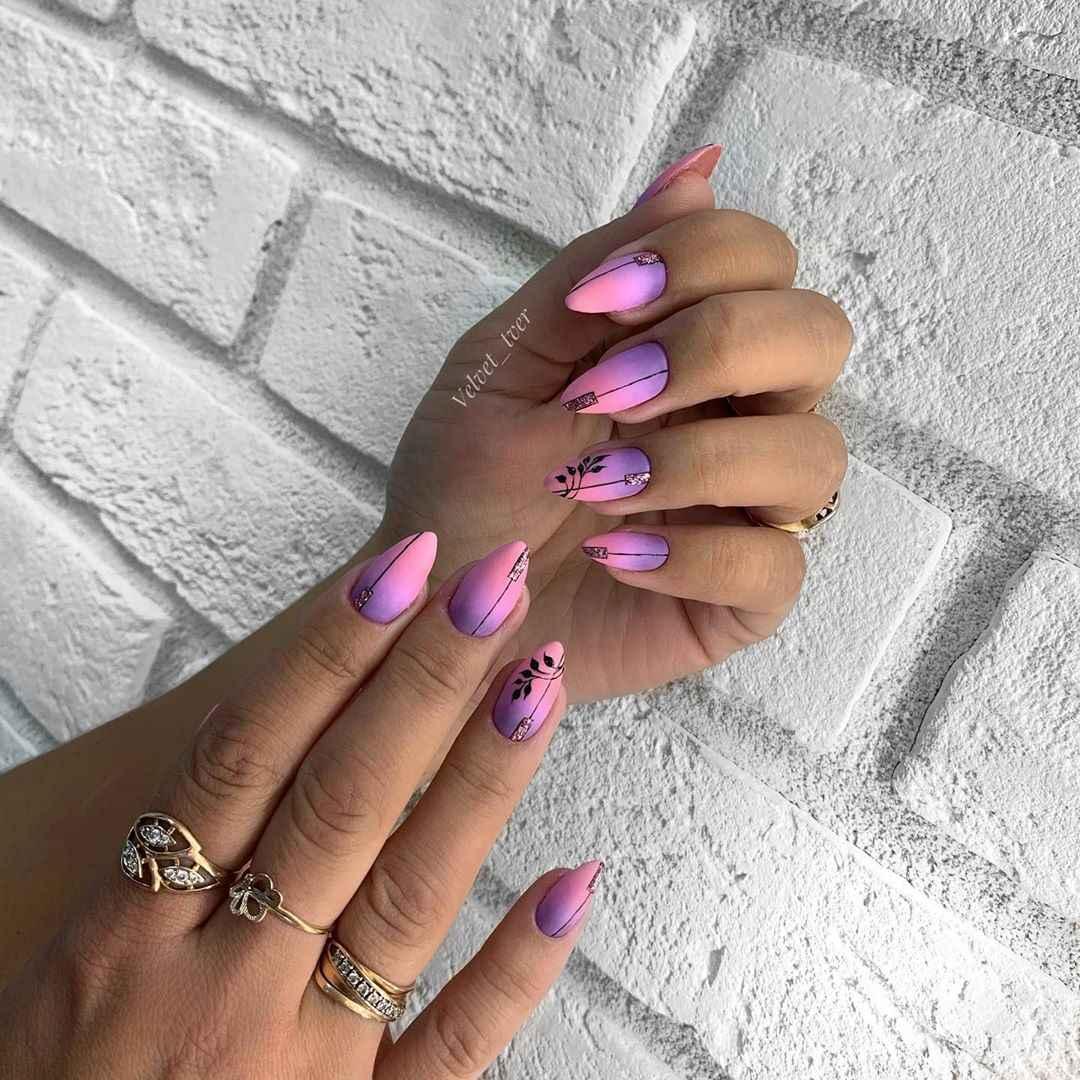 Фиолетовый френч-омбре фото_1