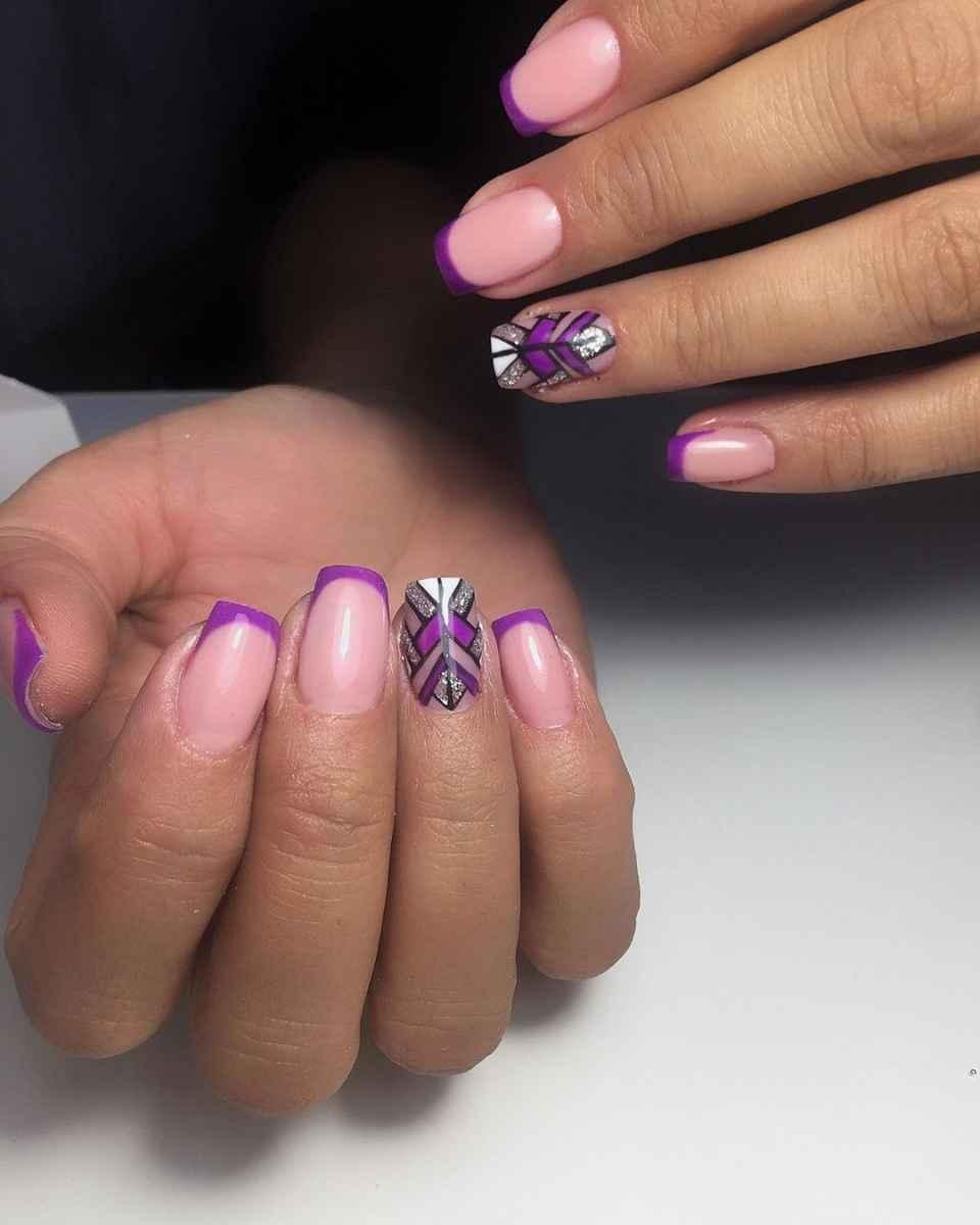 Фиолетовый френч с рисунком фото_9
