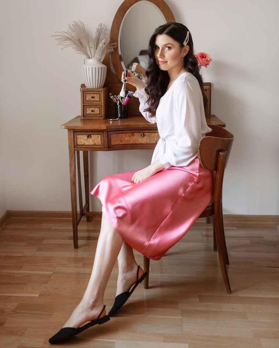 Шелковая юбка 2020 фото_22