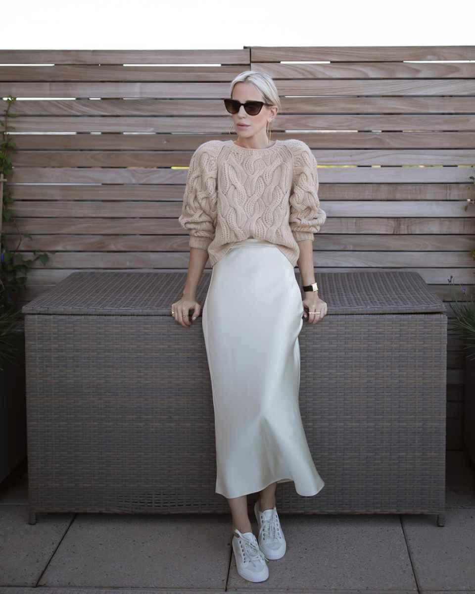 Шелковая юбка 2020 фото_36