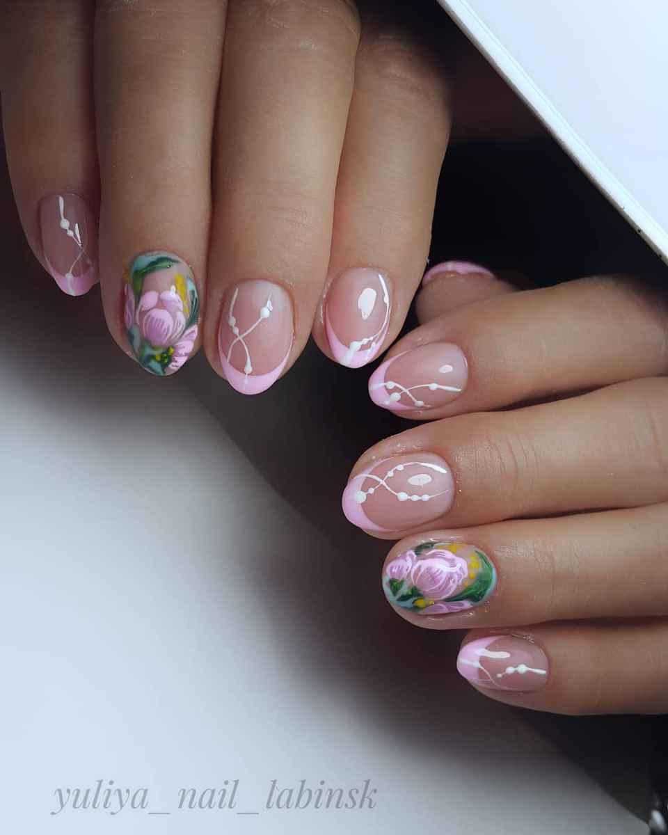 Нежно-розовый френч фото_56