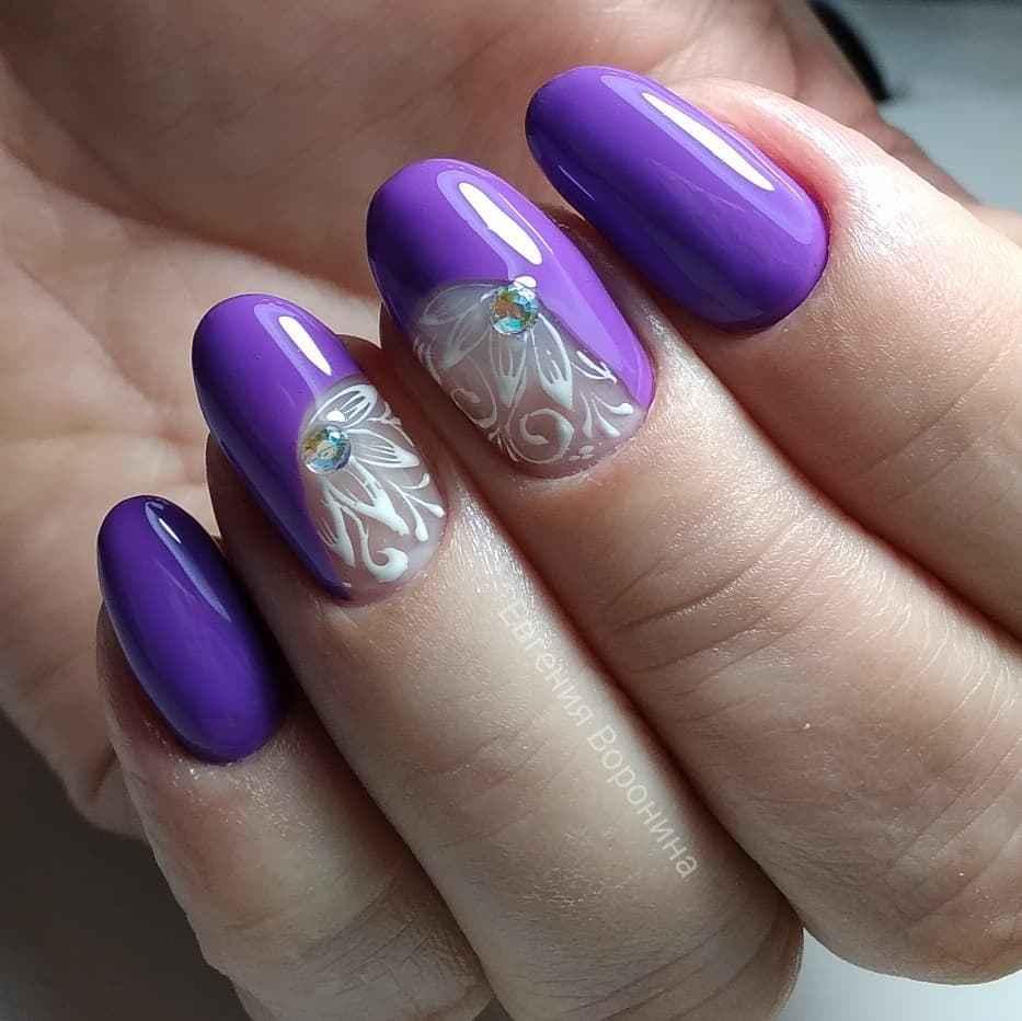 Фиолетовый френч с рисунком фото_6