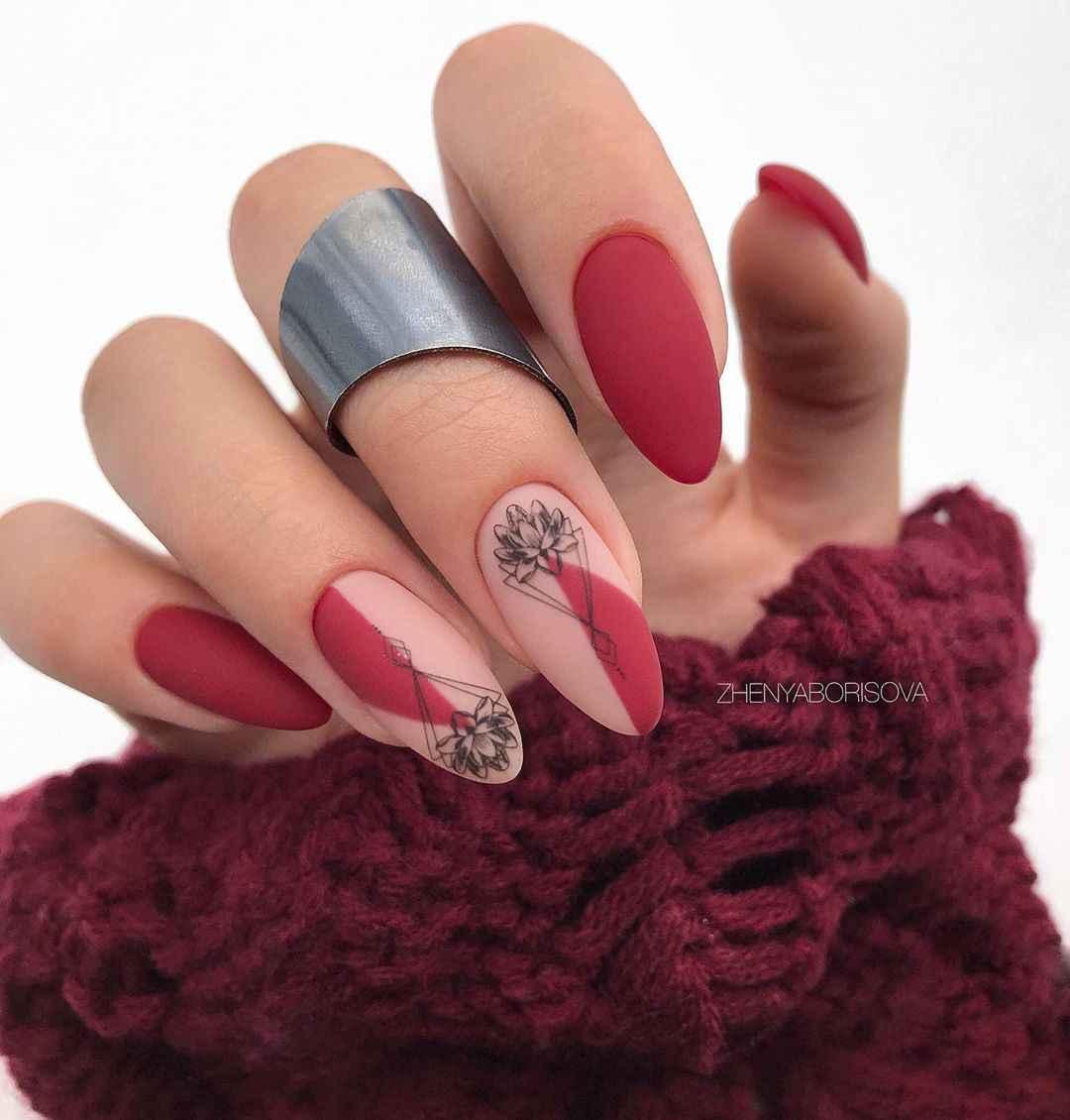 Необычный френч на ногтях фото_20