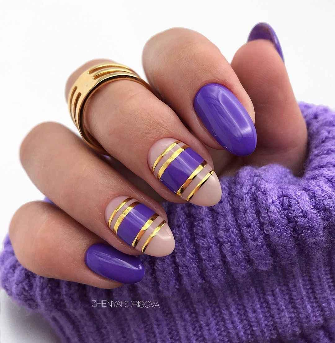 Необычный френч на ногтях фото_16