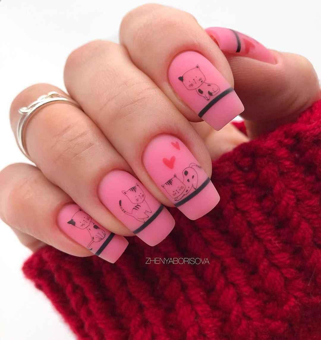 Необычный френч на ногтях фото_11