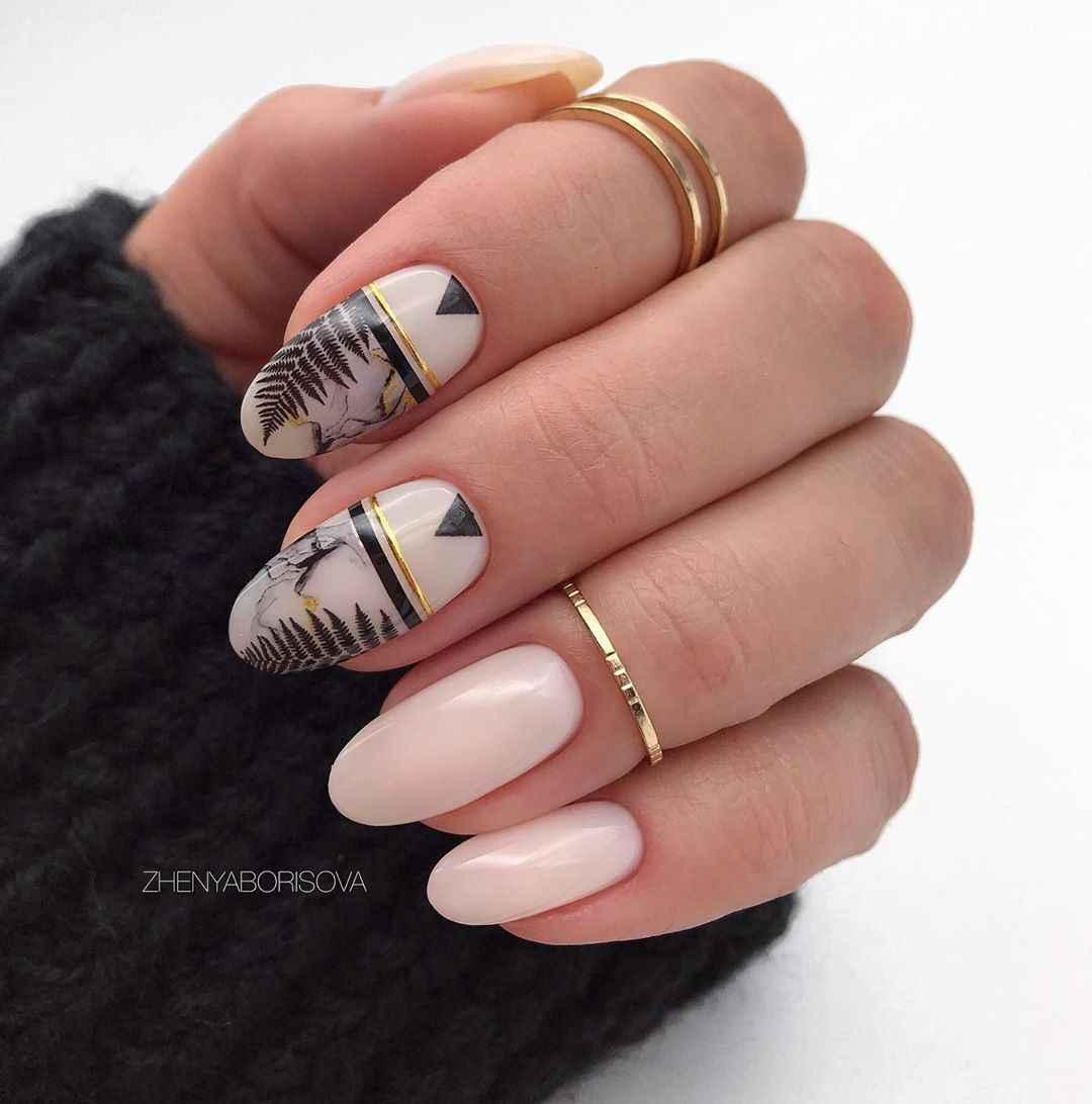 Необычный френч на ногтях фото_9
