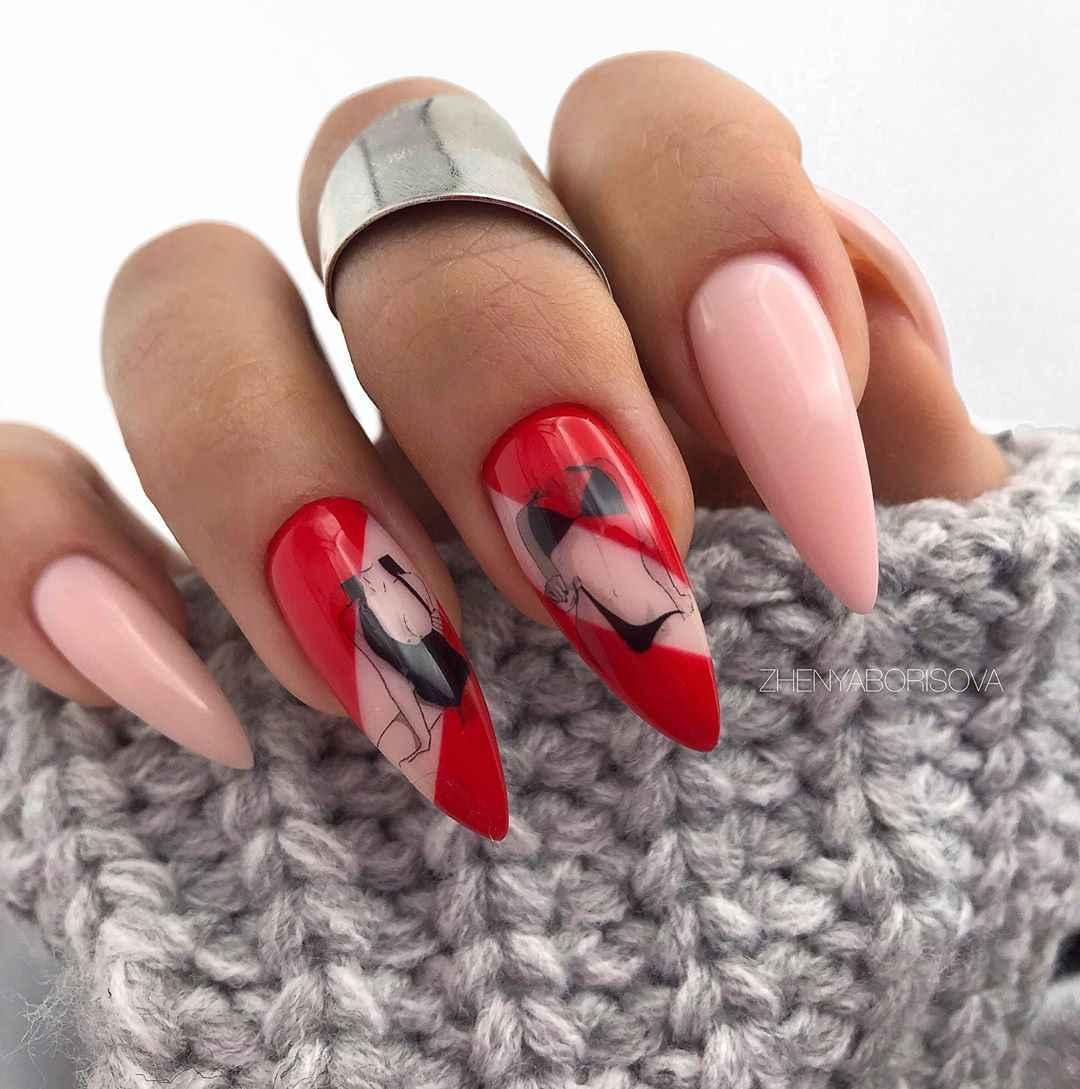 Необычный френч на ногтях фото_3