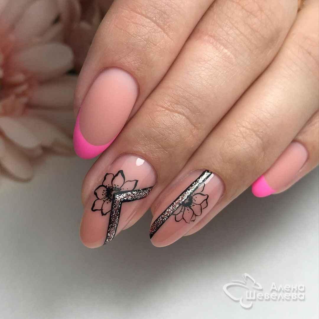 Красивый розовый френч с рисунком фото_8