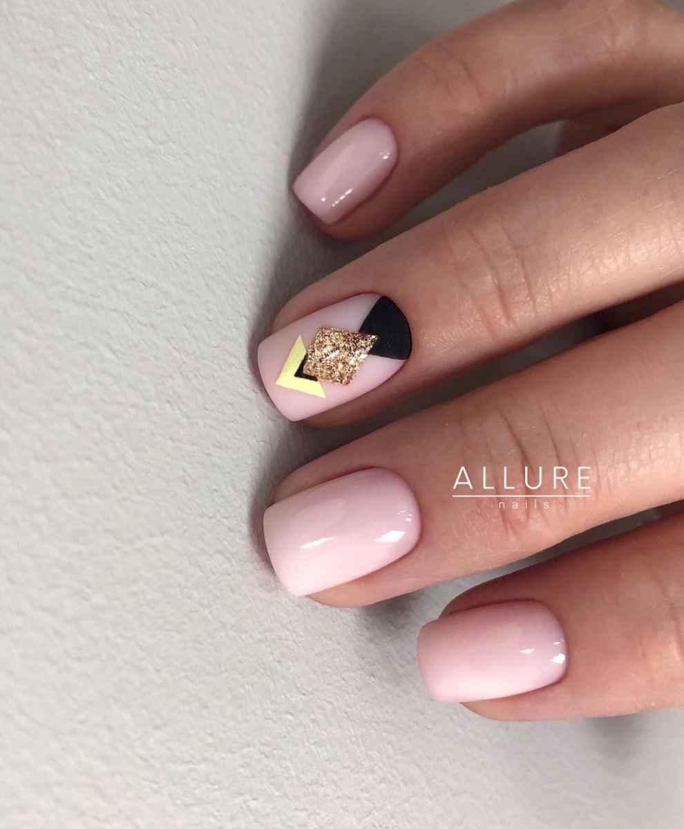 Нежно-розовый френч с рисунком фото_5
