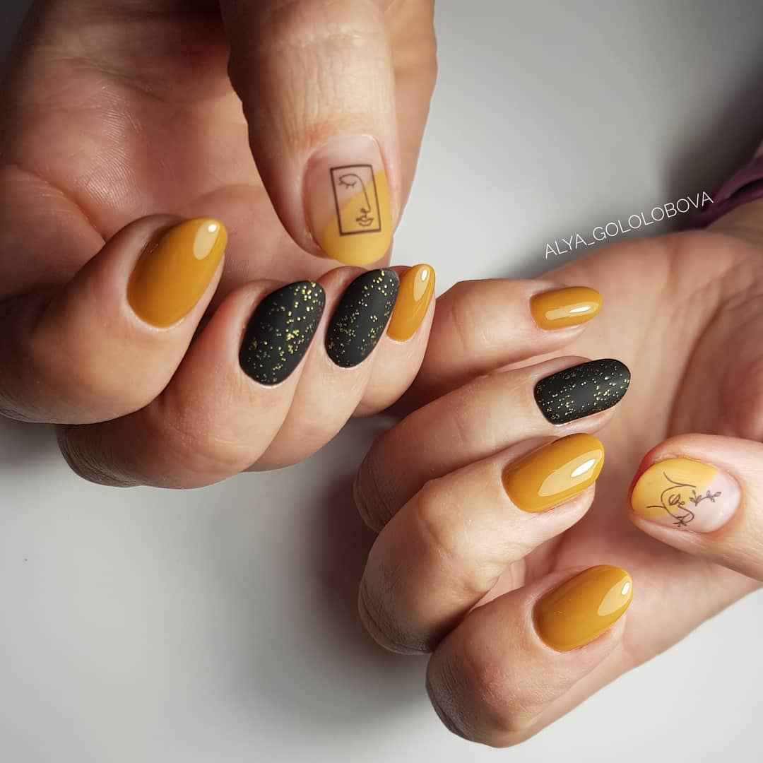 Маникюр с лицами на ногтях фото_1