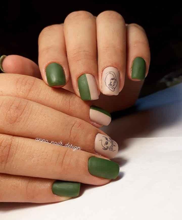 Маникюр с лицами на ногтях фото_29