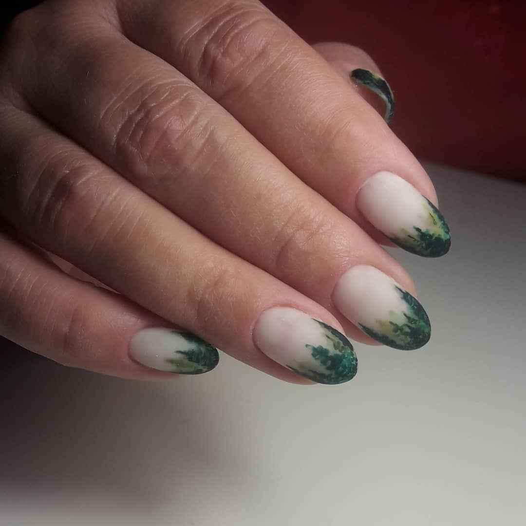Акварельные капли на ногтях фото_51