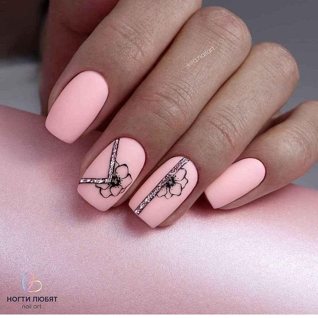 Нежно-розовый френч с рисунком фото_4