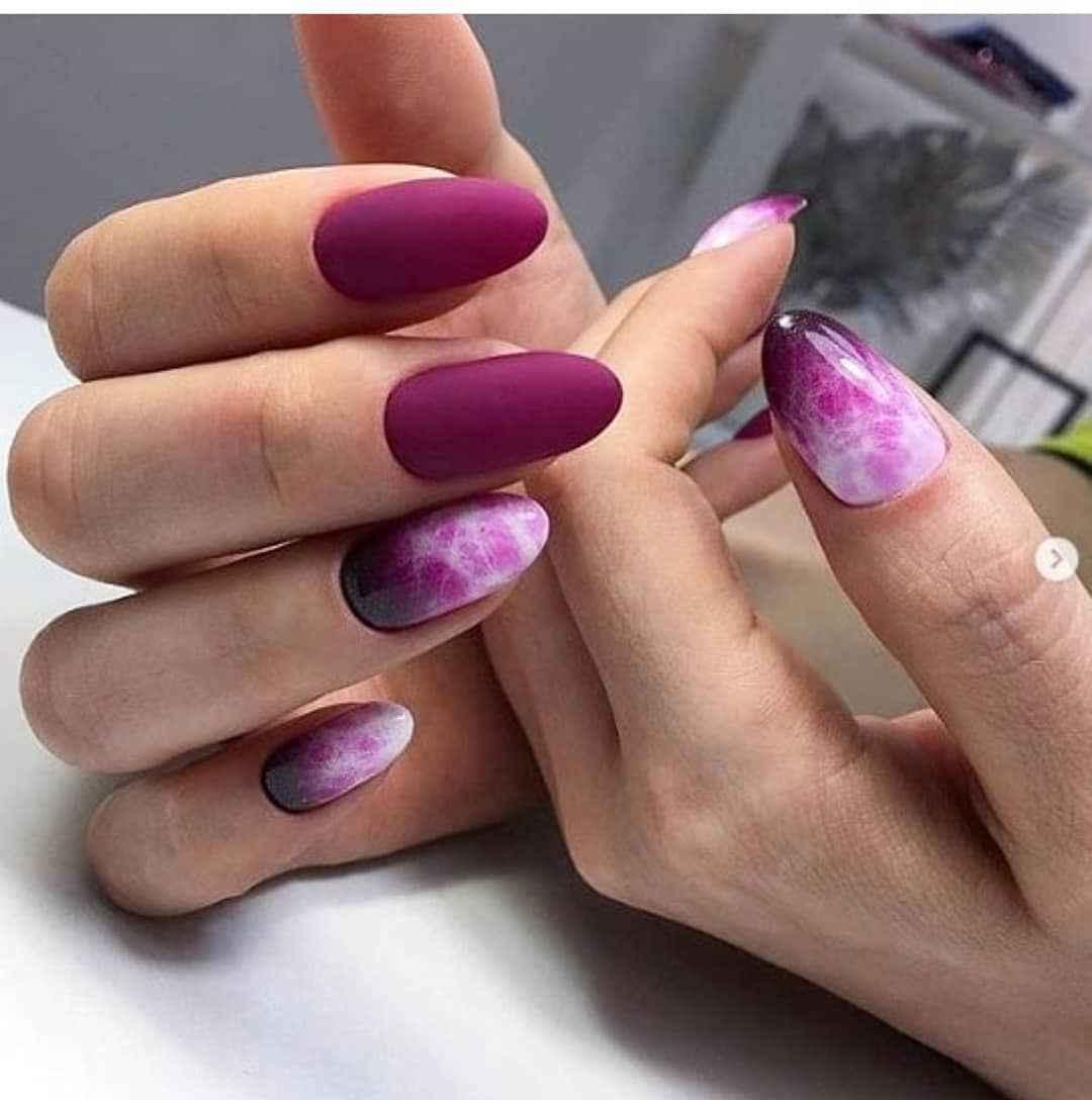 Акварельные капли на ногтях фото_9