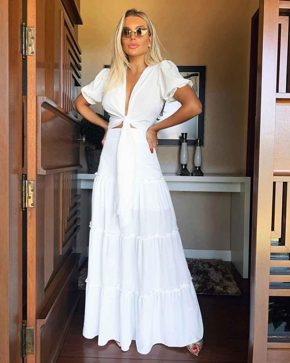 Красивые белые новогодние платья 2020 фото_18
