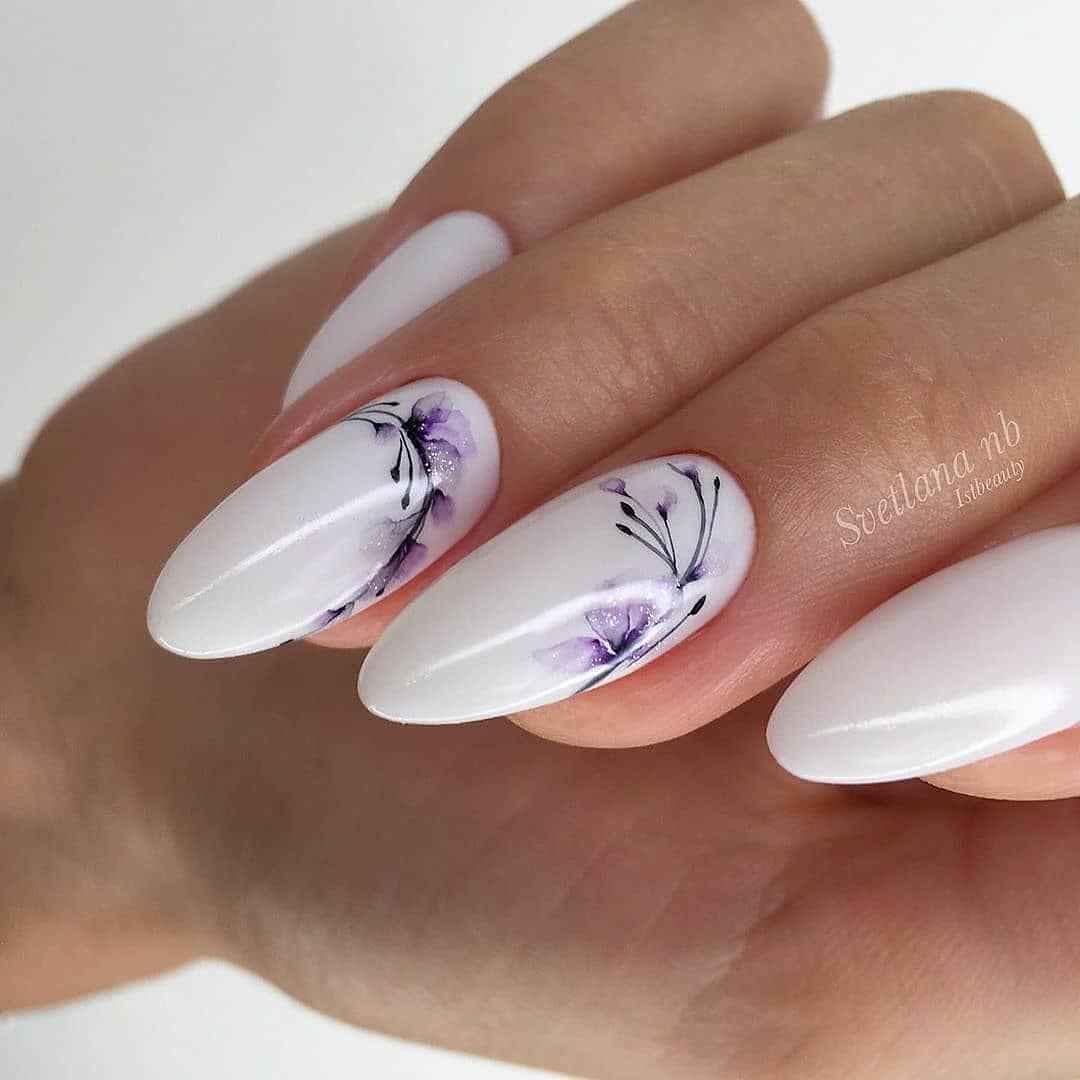 Акварельные капли на ногтях фото_14