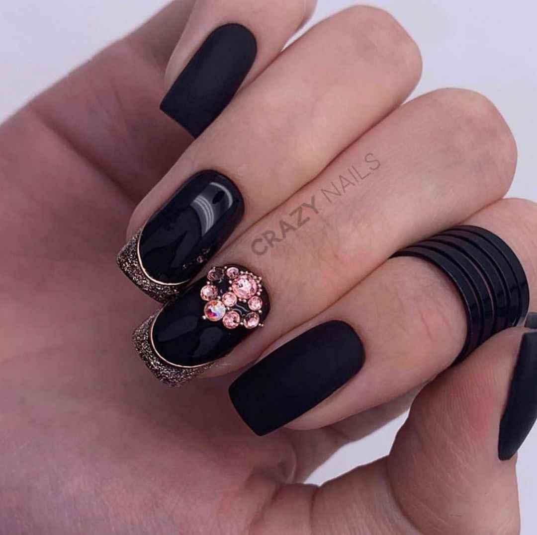 идеи зимнего дизайна ногтей 2020 фото_1